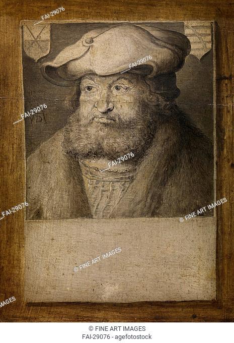 Portrait of Frederick III, Elector of Saxony (1463-1525) by Dürer, Albrecht (1471-1528)/Oil on wood/Renaissance/c. 1525/Germany/Royal Museum of Fine Arts