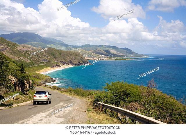 Atlantic Coastline of St Kitts in the Caribbean