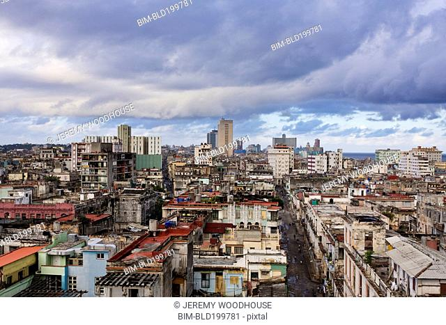 Cuban cityscape and rooftops