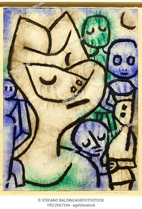 Expression of a face Gebaerde eines Antlitzes, 1939, Paul Klee, 1879-1940, oil colours and glue on paper and cardboard
