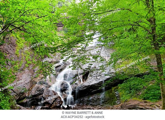Beulah Ban Falls in Cape Breton Highlands National Park, Nova Scotia, Canada