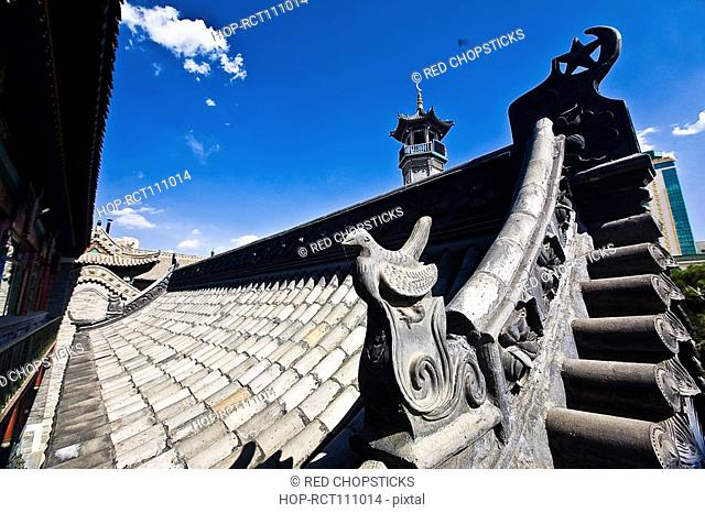 High section view of a mosque, Great Mosque, Hohhot, Inner Mongolia, China