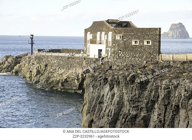 Punta Grande hotel in Frontera El Hierro Canary islands Spain It holds the world record for â. . smallest hotel in the worldâ. . on December 29, 2018