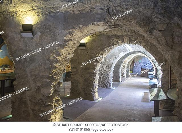 Interior view of the Large Cistern at Lorca Castle in Murcia Spain
