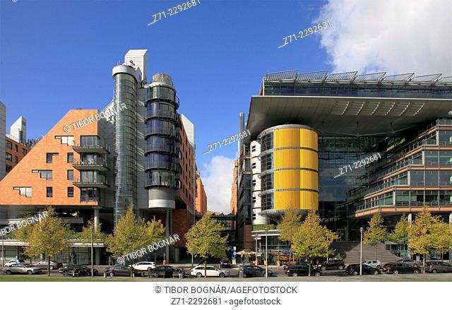 Germany, Berlin, Potsdamer Platz, skyline, modern architecture, panorama