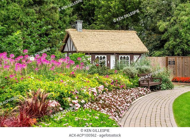 Country cottage in the English Garden, Assiniboine Park, Winnipeg, Manitoba, Canada
