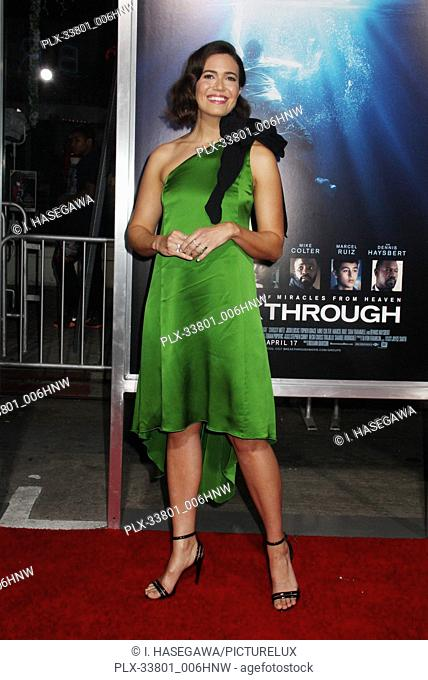 """Mandy Moore 04/11/2019 The Premiere of """"""""Breakthrough"""""""" held at the Regency Village Theatre in Los Angeles, CA. Photo by I"""