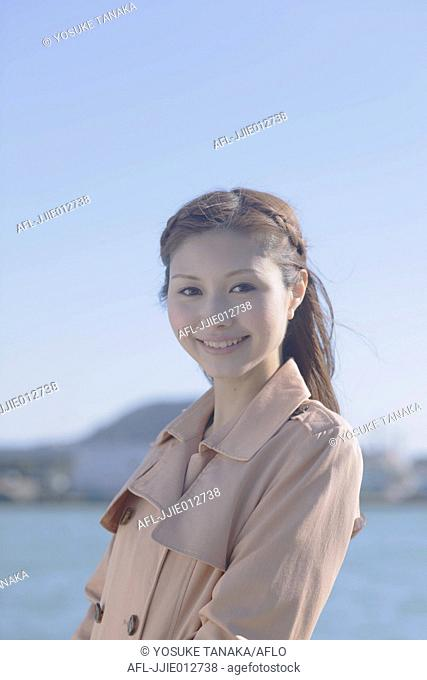Portrait of Japanese woman smiling