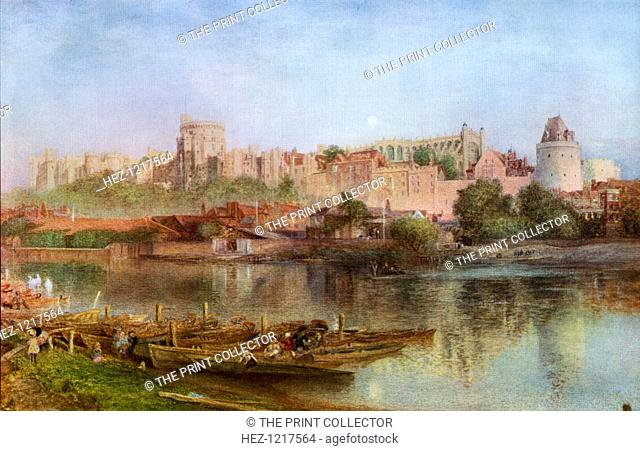 'Windsor Castle', 1889, (1912). A colour print from Famous Paintings, with an introduction by Gilbert Chesterton, Cassell and Company, (London, New York