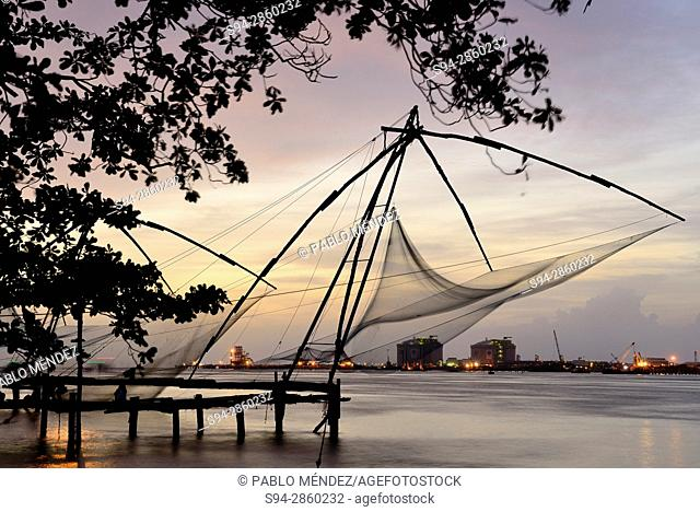 Chinese fishing nets in Fort Kochi, Kerala, India