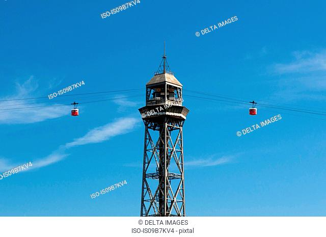 Torre Jaume I, Cable Car Tower, Barcelona, Spain
