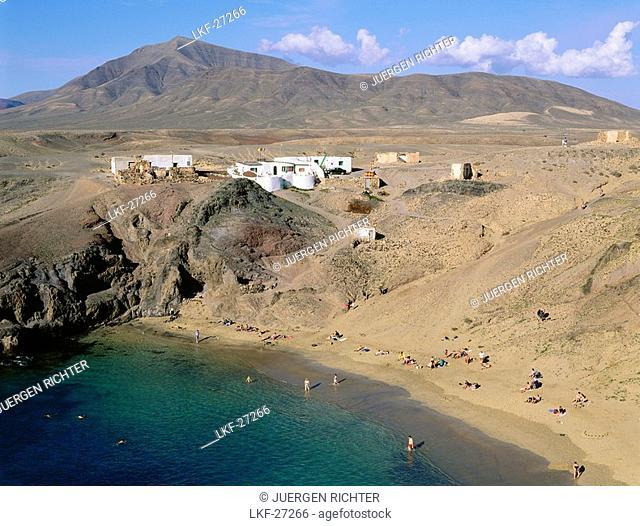 Playa Papagayo near Playa Blanca, Lanzarote, Canary Islands, Atlantic Ocean, Spain