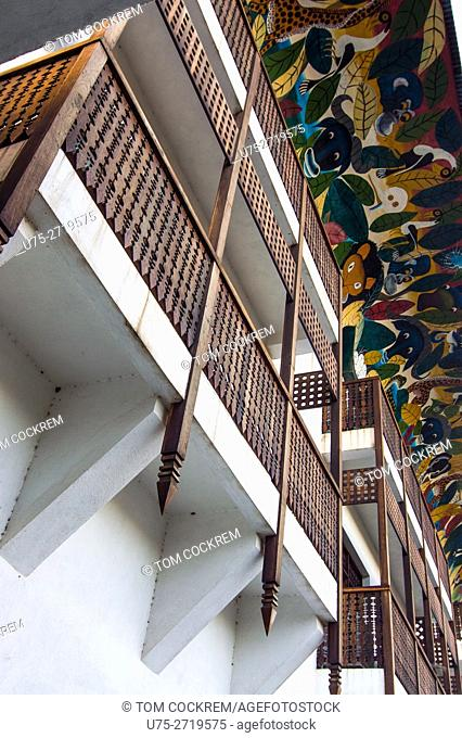 Architectural features, Hotel Slipway, Dar-es-Salaam, Tanzania