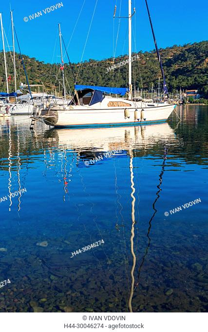 Aegean sea harbor, Fethiye, Mugla Province, Turkey