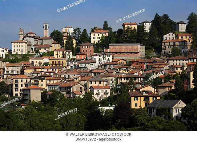 Italy, Lombardy, Lakes Region, Lake Como, Brunate, town view