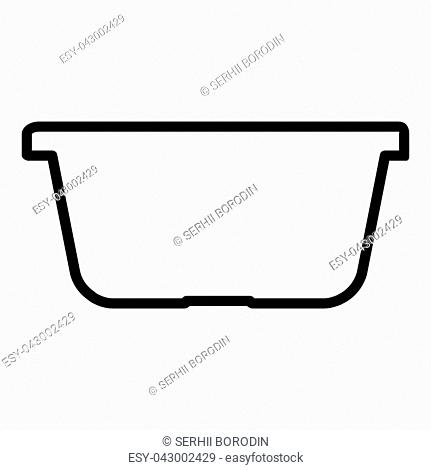 Basket for shopping vector illustration icon black color vector illustration isolated
