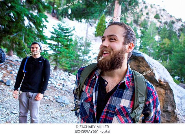 Happy hikers, Mount Baldy, California