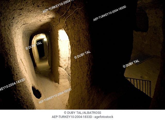 Photograph of an Underground city in Turkey