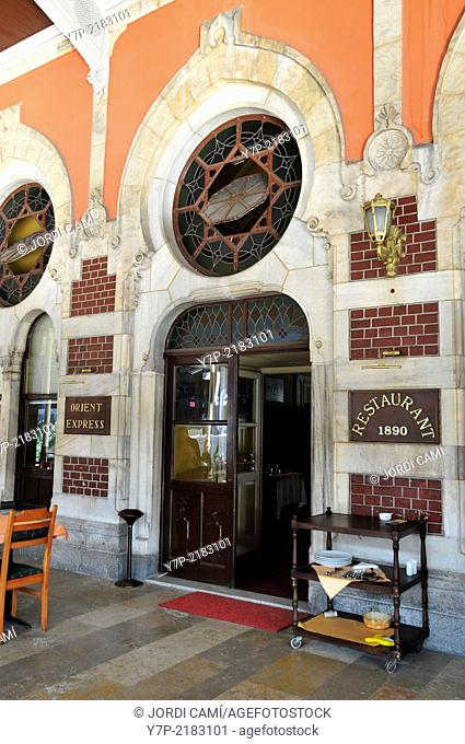 Orient Express Bar-Restaurant at Sirkeci Railway Station, the Orient Express train ended its journey here. Istanbul .Turkey