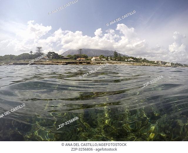 Underwater Las Rotas beach San Antonio Nature reserve in Denia Alicante Spain