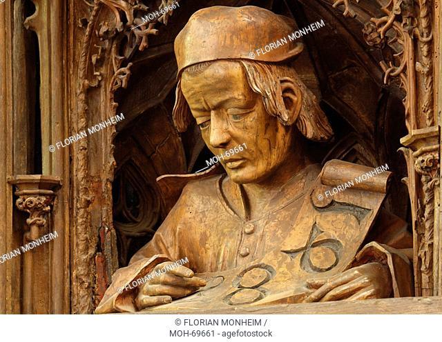 Schnitzaltar, Meister Hans Bilger, genannt Hans von Worms mit Jahreszahl 1483