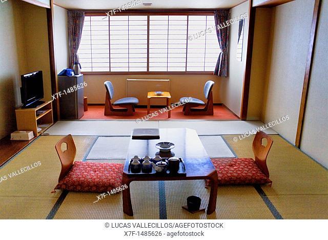 Dai-ichi Takimotokan hotel,Japanese style room,Noboribetsu Onsen,Noboribetsu,Shikotsu-Toya National Park,Hokkaido,Japan