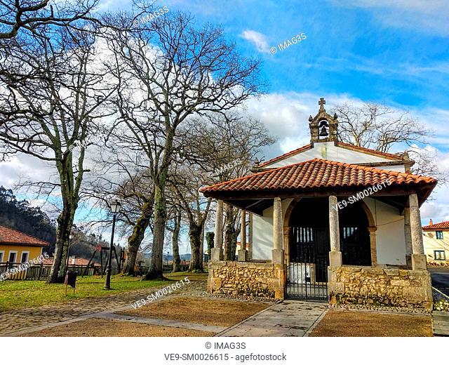 'Nuestra Señora de la Sienra' chapel, Torazo vilage, Asturias, Spain