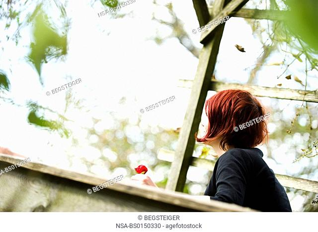 young, red haired woman
