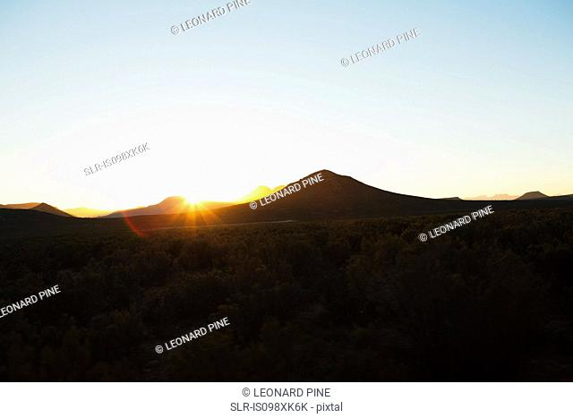 Sun over mountains, South Africa