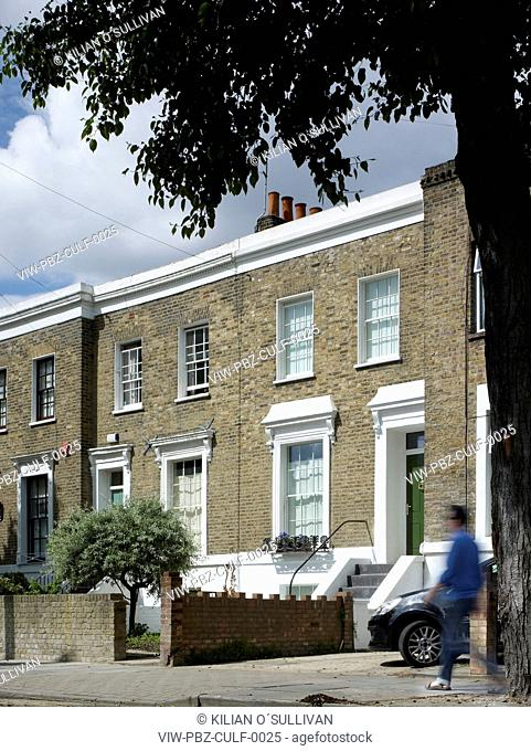 street elevation, 80 House, Culford Road, London, June 2010, Victorian terrace with radical eco-makeover LONDON, UNITED KINGDOM, Architect