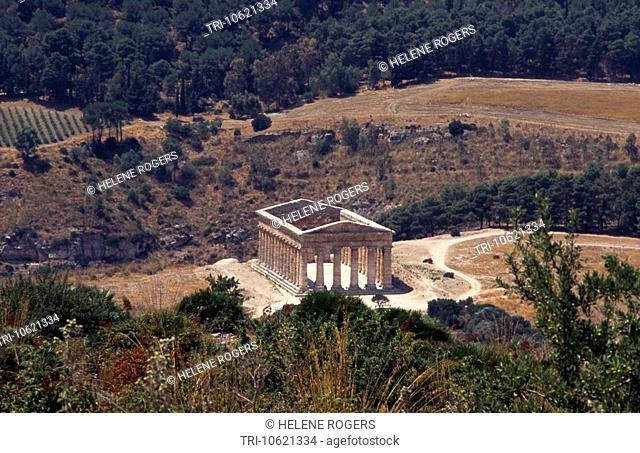 Segesta Sicily Italy Doric Temple Built by The Elymians