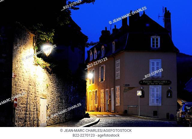 Public lighting, Autun, Saône-et-Loire, Burgundy, France
