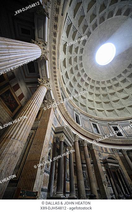 Italy, Lazio, Rome, The Pantheon, Church, Interior, Vaulted Ceiling