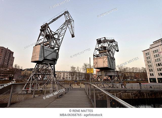 France, Bas Rhin, Strasbourg, development of port du Rhin (Rhine's harbour) and conversion of breakwater of Bassin d'Austerlitz