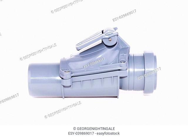 Studio shot of a plumber tube for water, isolated on a white background