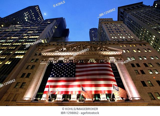 New York Stock Exchange, Financial District, Lower Manhattan, New York City, NYC, USA