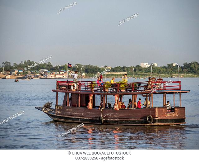 Ferry on the Mekong River at Phnom Penh