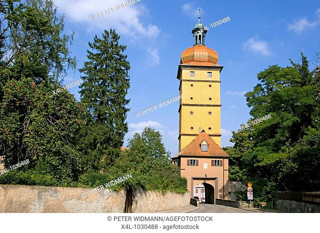 Bavaria, Germany, old town of Dinkelsbuehl, Segring Gate