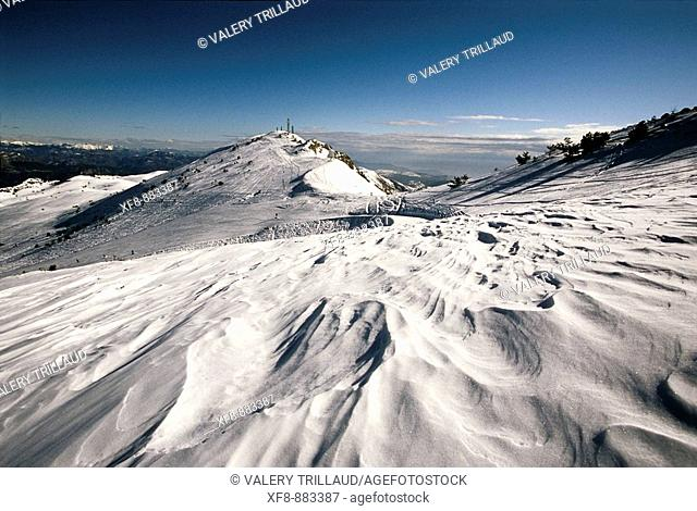 Summits of the Cheiron mountain in the ski station of Greolieres Les Neiges Alpes-Maritimes 06 France Europe