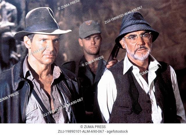 1989; Indiana Jones And The Last Crusade. Original Film Title: Indiana Jones And The Last Crusade, PICTURED: HARRISON FORD, SEAN CONNERY