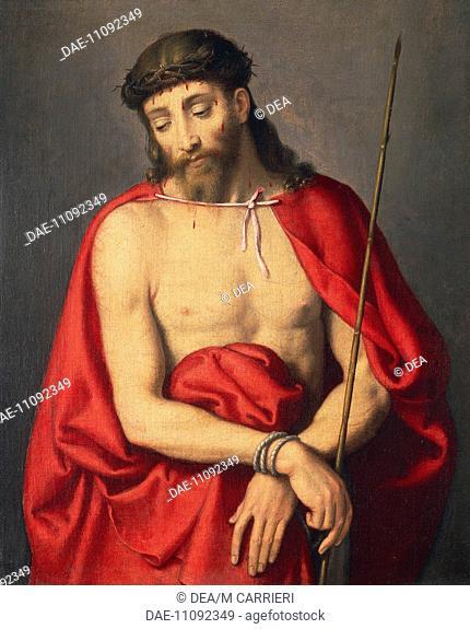 Ecce Homo, by Giovanni Battista Moroni (1525 ca- 1578), oil on canvas.  Private Collection