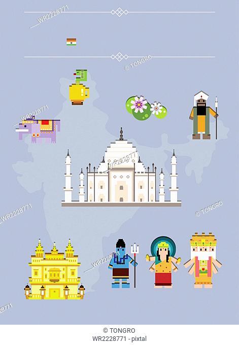 Global landmarks in India