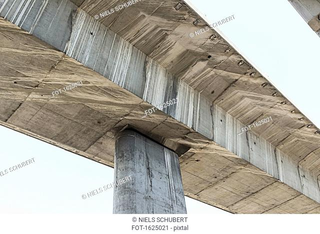 Low angle view of viaduct against sky