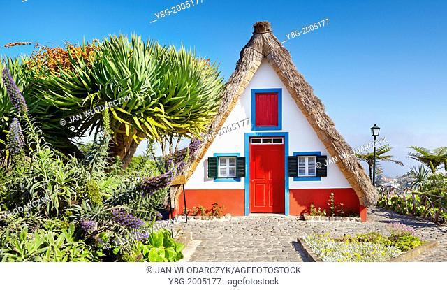 Traditional Madeirense home palheiros - Santana, Madeira, Portugal