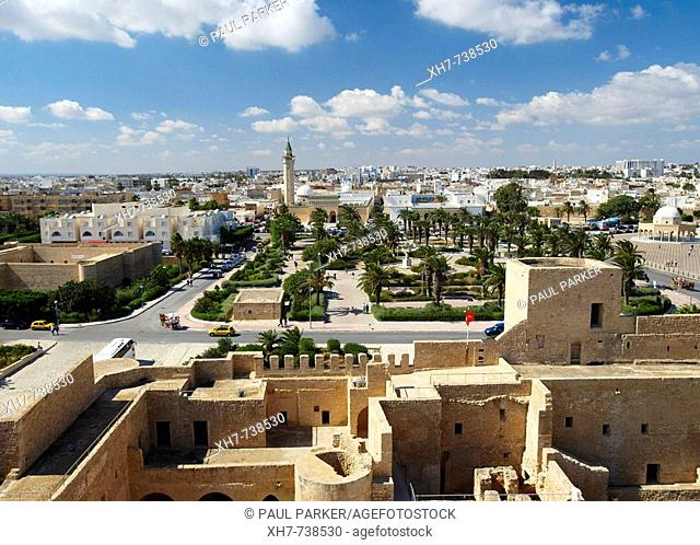 View of Fort Ribat of Harthema and the town of Monastir, Tunisia