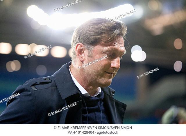 coach Ralph HASENHUETTL (Hasenh-ttl, L), Brustbild, .Fussball Europa League, Viertelfinale, Hinspiel, RB Leipzig (L) - Olympique de Marseille (MARSEILLE) am 05
