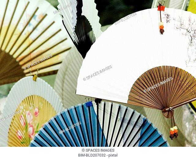Oriental Fans in a Paper Store