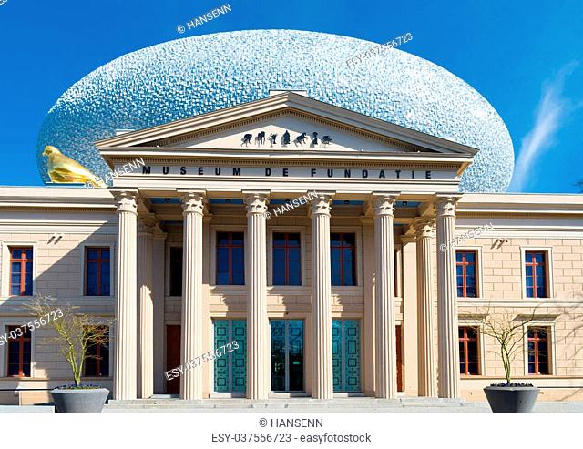 ZWOLLE, NETHERLANDS - MARCH 22, 2015: Exterior of museum De Fundatie. It is built in neoclassical style between 1838 and 1841