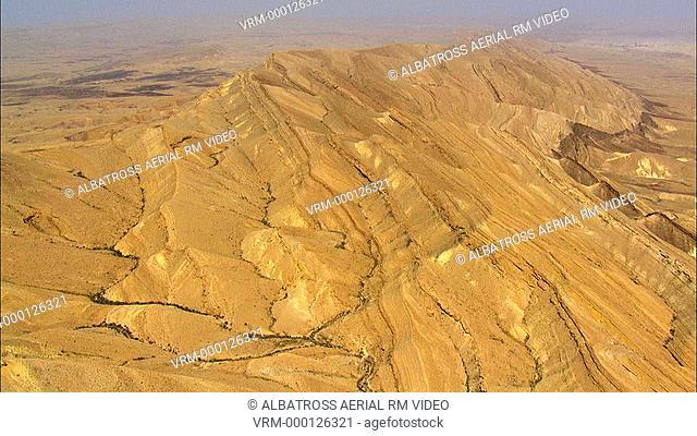 Aerial footage of Machtesh Gadol, Negev Desert