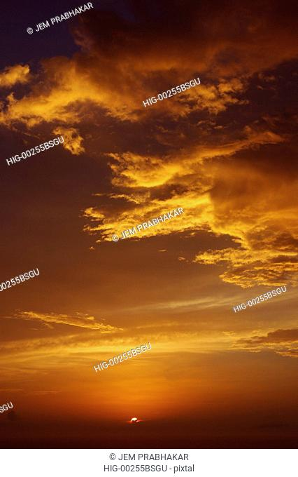A VIEW OF SUNSET FROM KOVALAM, KERALA, INDIA